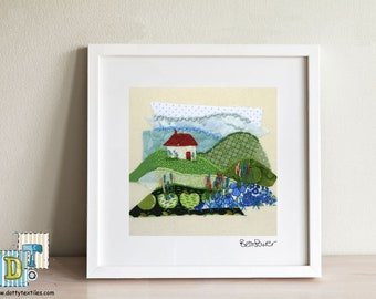 Little Red Roof Mounted Prints