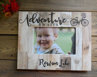 Baby frames etsy personalized baby picture frame baby girl gift personalized baby frame newborn baby gift negle Image collections