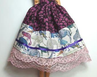 Pullip (body type 4) Liberty print Boho skirt