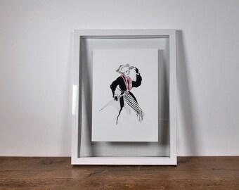 Parisienne fashion illustration