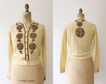 1950s cardigan / 50s knit sweater / Pringle of Scotland cardigan