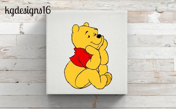 Winnie The Pooh-FULL COLOR-Vinyl Decal-Silhouette-Pooh Bear Car Decal-Winnie Mac Book Decal Sticker-Winnie The Pooh