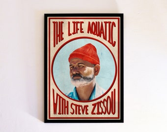 The Life Aquatic With Steve Zissou - Wes Anderson - Bill Murray -  Movie Poster