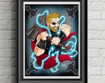 Thor Infinity War Print