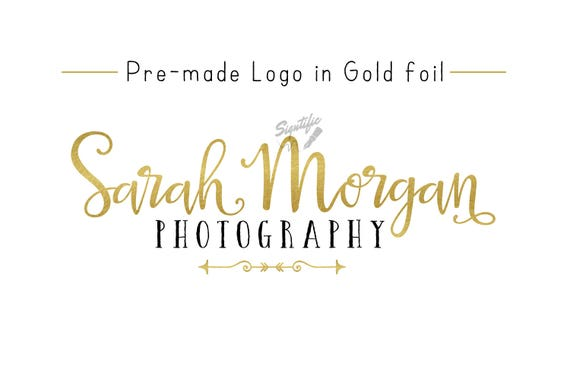 Premade Gold Foil Name Logo, Gold Leaf Logo, Photography Logo, Event Planning Logo, Business Logo, Name Signature Logo, Pre-made Logo Design