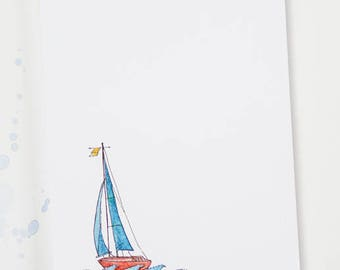 Notepad - Sailboat Stationery
