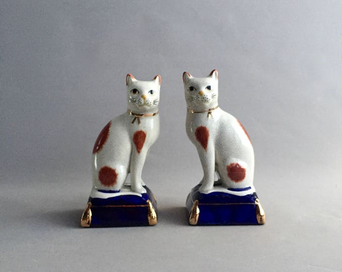 Victorian Style Staffordshire Cat ornaments
