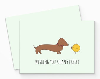Printable Dachshund Easter Card. Dog Easter Card. Funny Easter Card. Sausage Dog Easter Card, Printable. Funny Animals Card.Instant Download