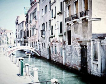 Venice Canal Photo Travel Photography Venice Italy Print Italy Wall Art Venice Canals Architectural Photo Pastel Decor Europe Home Decor