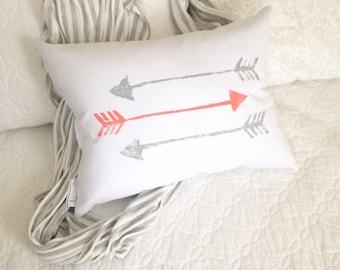 Arrow Pillow - arrows pillow, rustic arrow decor, tribal arrow pillow, nursery arrows