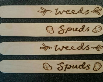 Weeds and Spuds Plant Markers