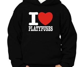 I Love Platypuses Children Hoodie