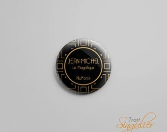 Personal badge - Art Deco / Gatsby - 32 mm - button badges