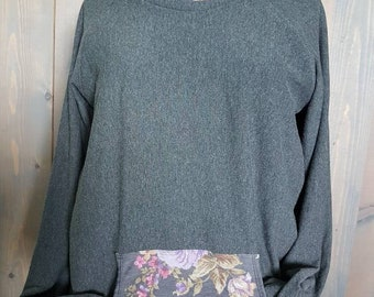 Large breastfeeding hoodie. French terry hoodie, Nursing Hoodie, Breastfeeding Sweater, Nursing Sweater