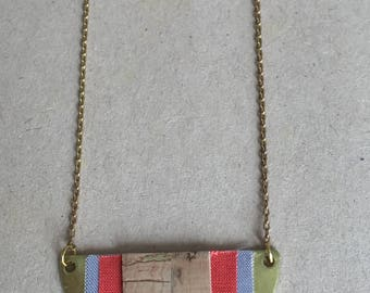 Necklace-YUCATAN ethnic leather with star Cork