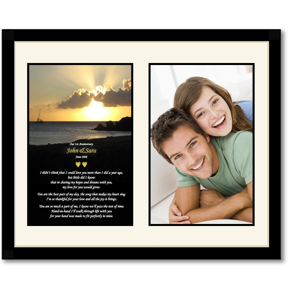 First Anniversary Gift Frame for Husband and Wife