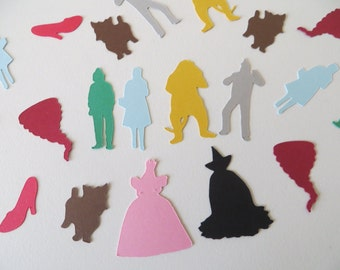 Wizard of Oz Confetti - Set of 180 - Handmade - Dorothy - Toto - Scarecrow - Tinman - Lion - Wicked Witch - Toto - Wizard of Oz Party