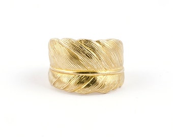 Gold Feather Ring 9ct : Take Flight