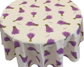 French Country Tablecloth, French Lavender Tablecloth