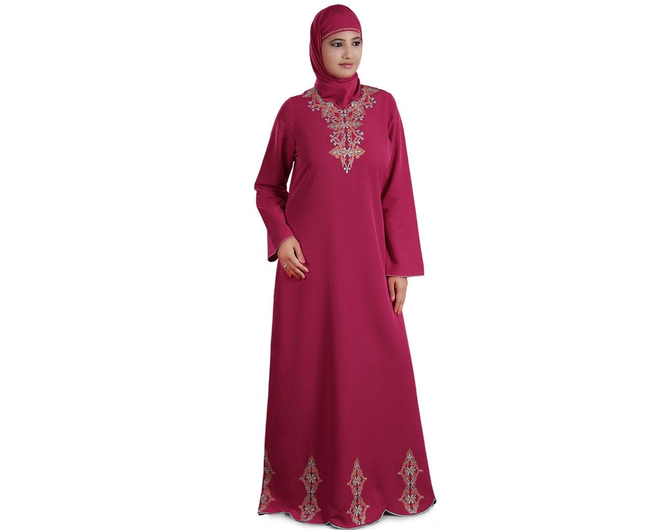 Stickerei Rosa Abaya Dubai Fancy Burka Elegante Jilbab