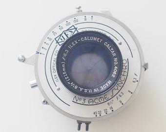 Ilex Caltar 215mm f6.3 4x5 lens w. Acme Shutter