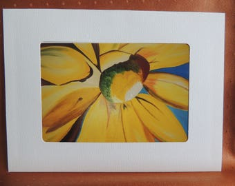 SunflowerBlank  Note Card