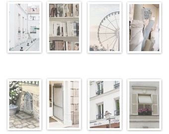 Paris Postcard Set, Cream 4x6 Prints, Paris Print Art Postcards, Paris Art, Office, Gifts, Paris, Hidden Paris, Student Gift, Parisian