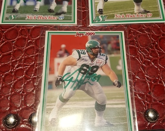 Nick Hutchins CFL Saskatchewan signed card-1 card