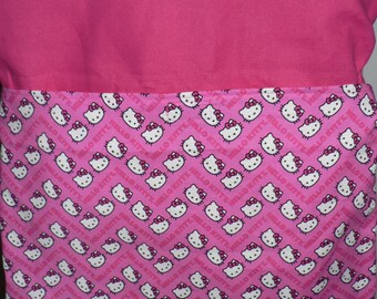 Handmade Chair bag first name embroidered free Hello Kitty  Print