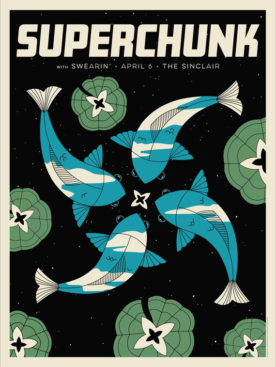 Superchunk 18x24 Screenprinted poster