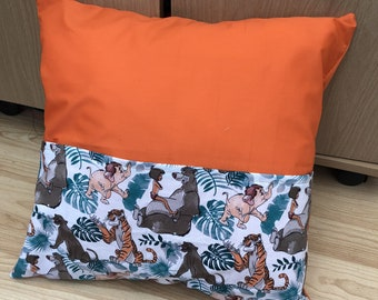 Jungle Book inspired Reading Cushion - Disney - featuring Bagheera, Baloo, Mowgli