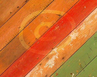 Rustic Wood Background, Diagonal Wood Planks, Photoshop Overlay, Painted Wood Boards, Texture Overlay, Red, Green, Clip Art, Distressed Wood