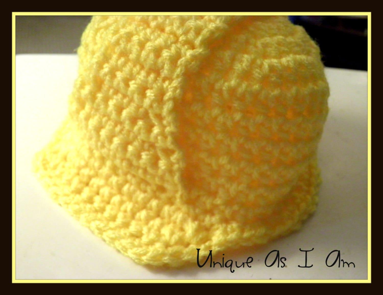 Crochet Baby \'Hard Hat\' Pattern Newborn 0-3 Months