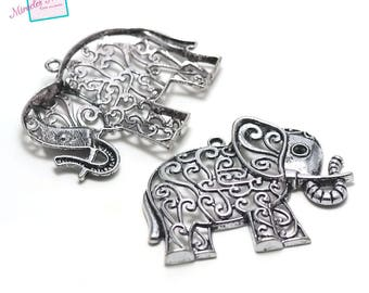 "1 magnificent pendant ""elephant"" 65 x 50 mm, silver, 092 has"