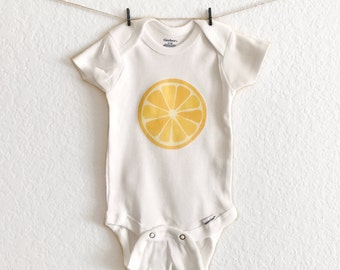 Summer - Spring - Baby Bodysuit - Lemon Slice