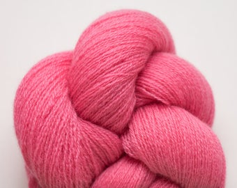 Bright Pink Cashmere Recycled Lace Weight Yarn, CSH00317