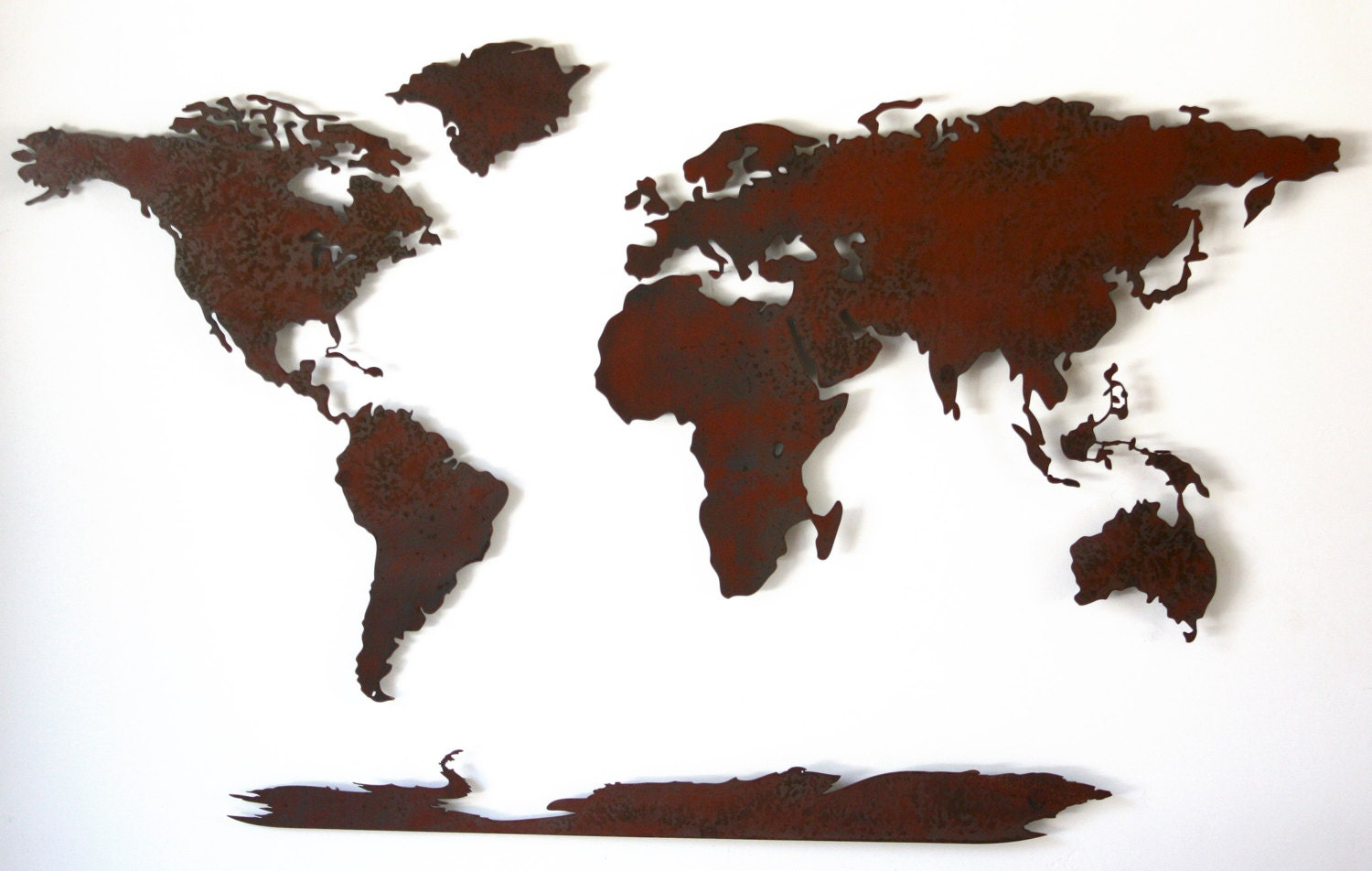World map metal wall art 50 wide x 30 tall 5 zoom gumiabroncs Gallery
