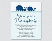 Whale Baby Shower Diaper ...