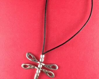7/5 MADE in EUROPE zamak dragonfly pendant set, dragonfly charm , silver dragonfly pendant (Ablz139S) Qty1
