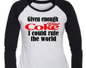 Diet Coke- Iron on Decal