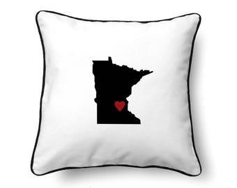 Minnesota Pillow - Minnesota Gift - Minnesota Map - MN State Map