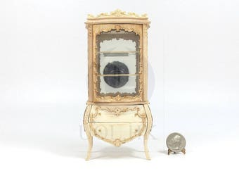 "Miniature 1:12 Scale ""Escala"" Display Cabinet For Doll House [Unpainted/Unfinished]"