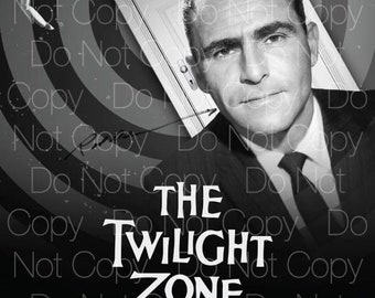 The Twilight Zone signed Rod Serling 8X10 photo picture poster autograph RP
