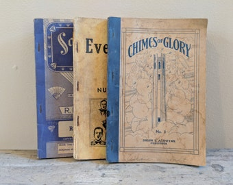 Set of 3 Vintage Hymnals (1930's)
