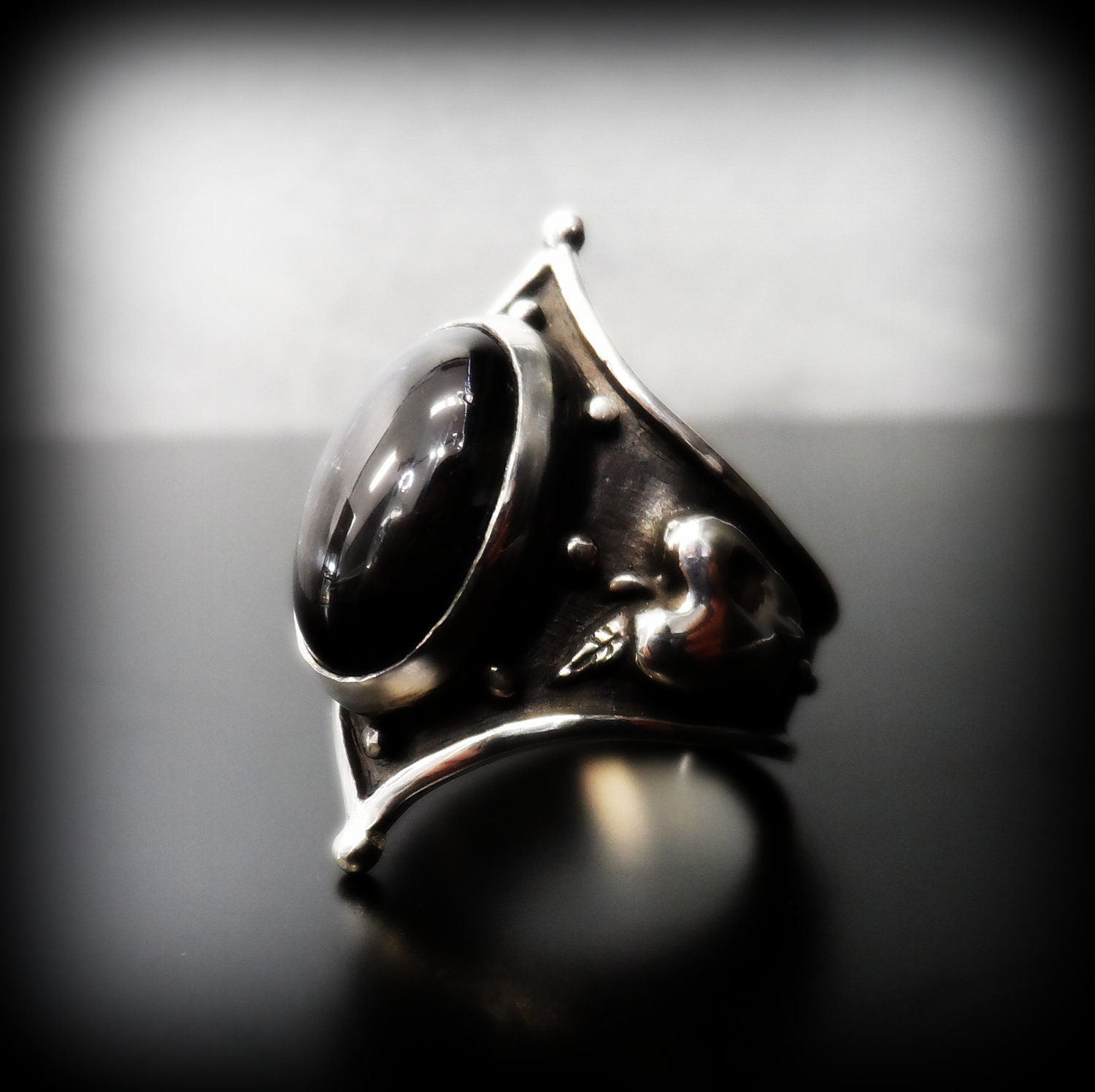 mother ring sterling shop eye product of evil rings silver pearl original