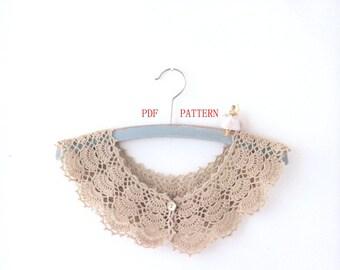 pdf download crochet lace collar pattern