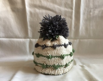 Hand Knit Baby. Hat 6-12 Months