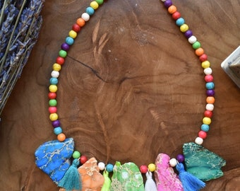 Colorful, Chunky Statement Necklace