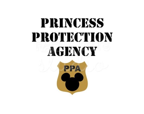 Princess Protection Agency Badge Mickey Mouse Disney Iron On