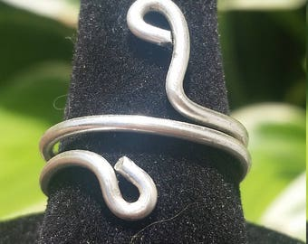 Silver Wire Wrapped Simple Ring - Size 7